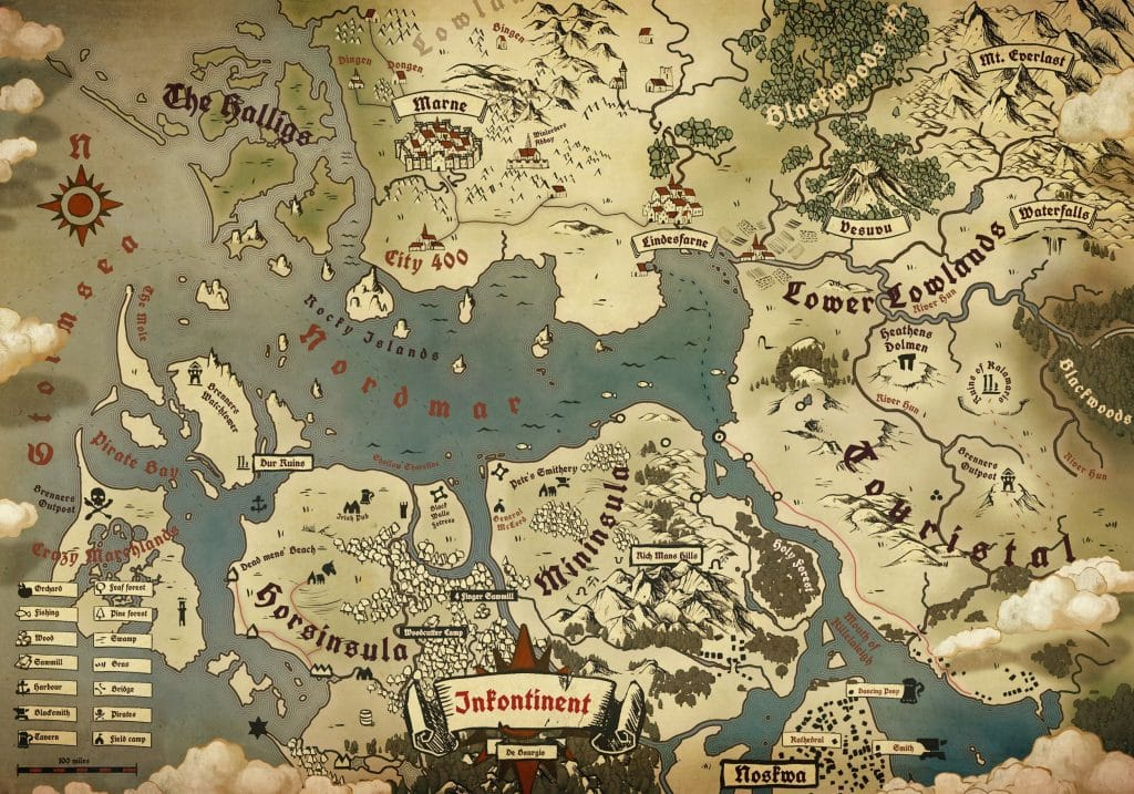 Map in the Fantasy Genre