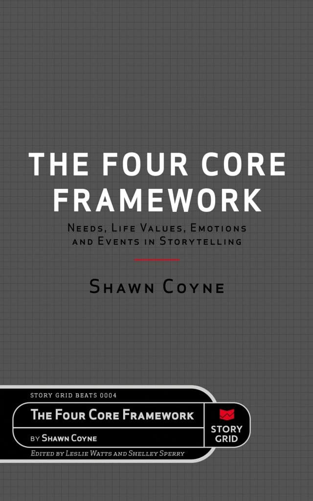 The Four Core Framework: Needs, Life Values, Emotions, and Events in Storytelling